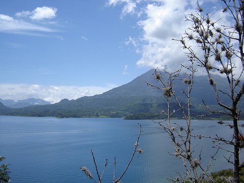 Volcan San Pedro (view from my house when I lived on the top of a cliff overlooking Atitlan)